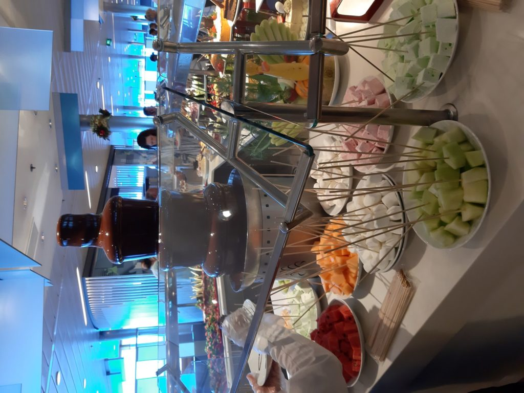Chocolate fountain - best of cruise ship buffet