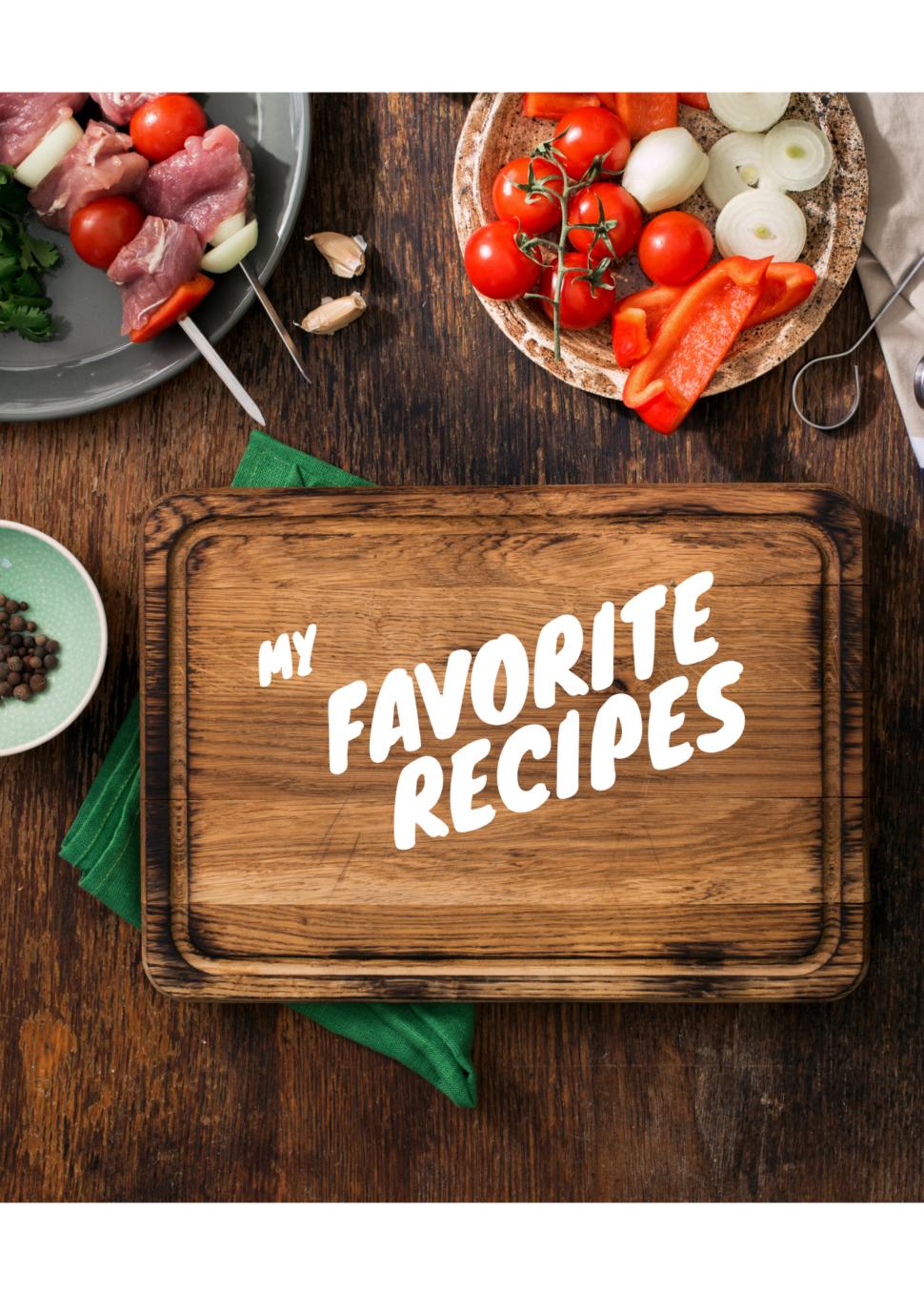 Recipes blank book