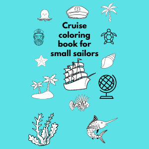 Cruise coloring book for small sailors
