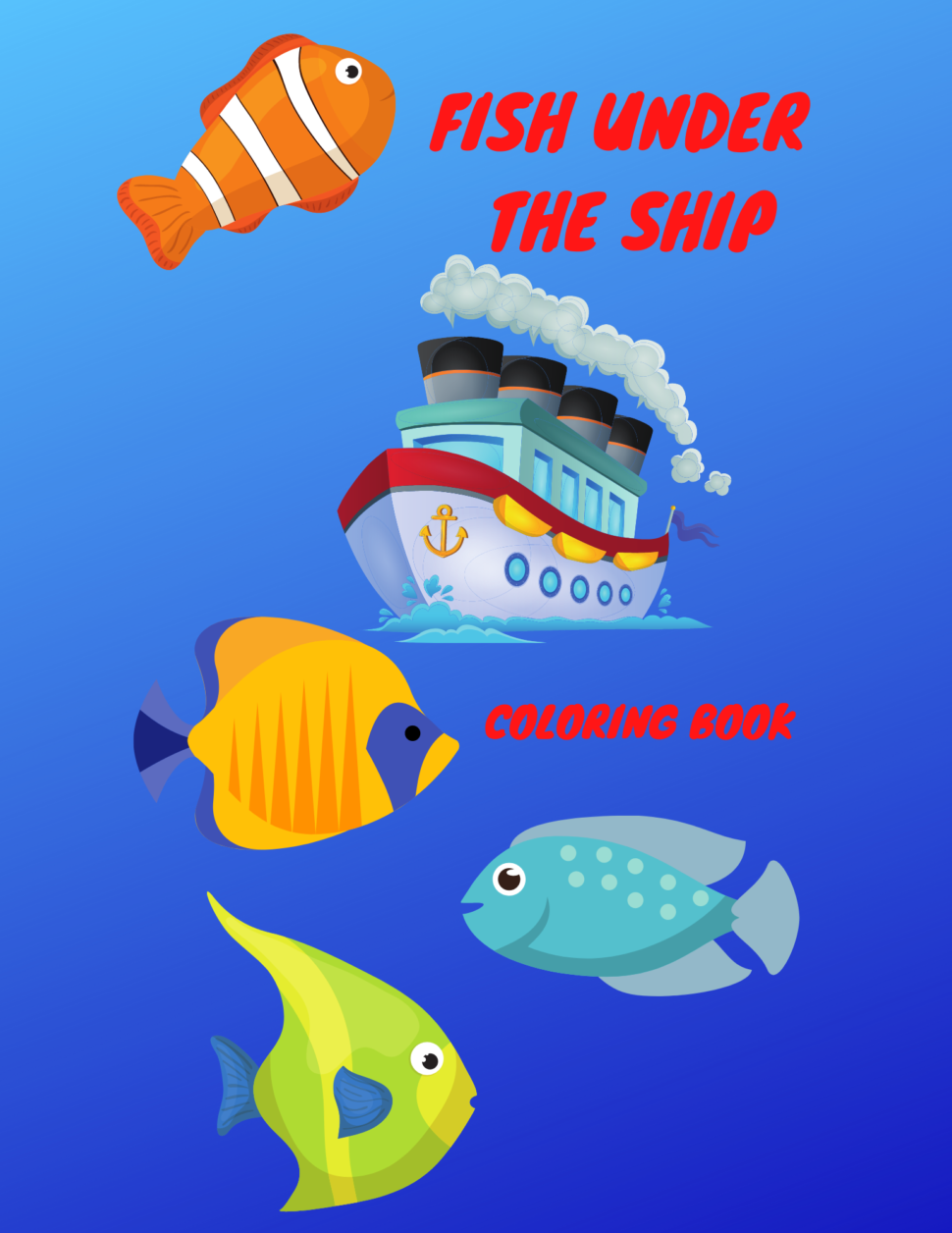 Fish under the ship